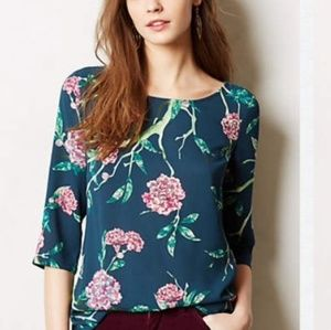 Anthropologie hd in paris eira floral top size 12
